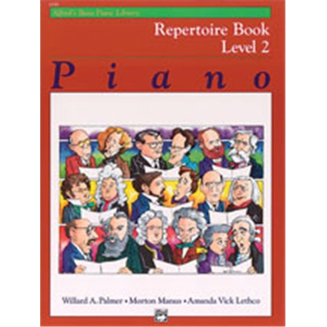 Alfred 00-6188 Basic Piano Course- Repertoire Book 2 - Music Book