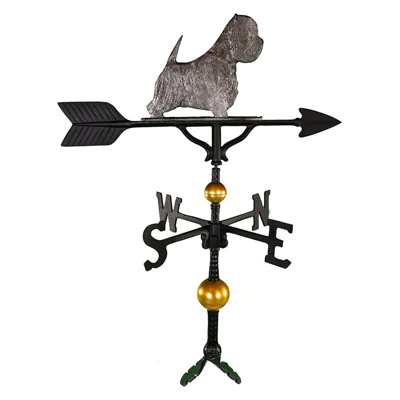 Deluxe Swedish Iron West Highland White Terrier Weathervane - 32 in.