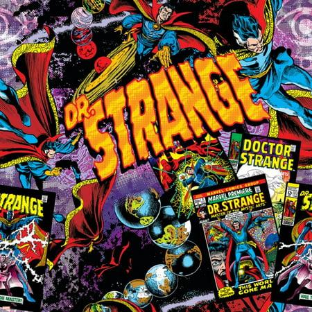 Marvel Comics Retro Pattern Design Featuring Dr  Strange Print Wall Art