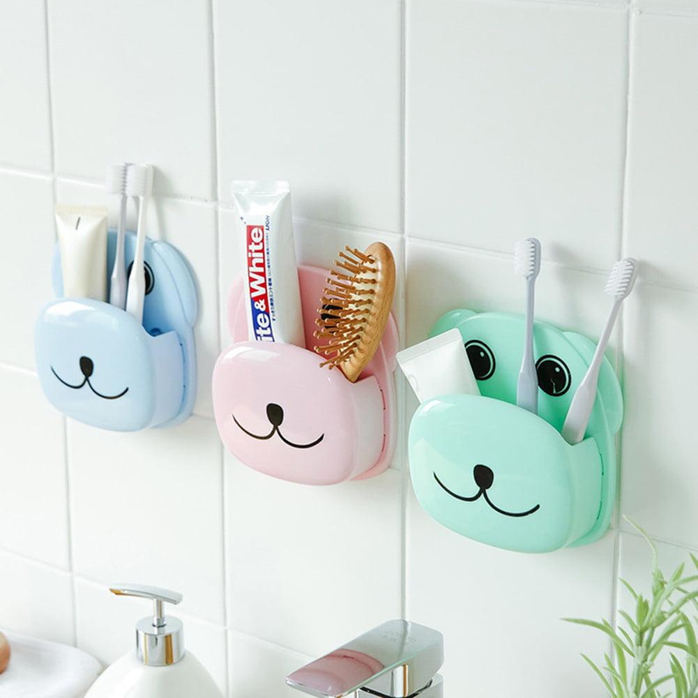 Moderna Cute Cartoon Dog Bathroom Toothbrush Holder Suction Cup Toothpaste Storage Rack