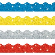 Trend, TEPT92901, Sparkle Terrific Trimmers Borders, 1 Set, Blue,Silver,Yellow,Red