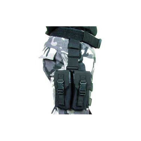Blackhawk  Omega Elite Enhanced M16 Drop Leg  Holds 4 M16 M4 Magazines  Black 561602Bk