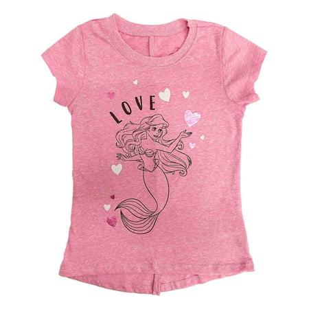 Disney Princess Toddler Girls Pink Ariel Little Mermaid Valentines