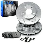 Front eLine Slotted Brake Rotors & Ceramic Brake Pads FES.42005.02