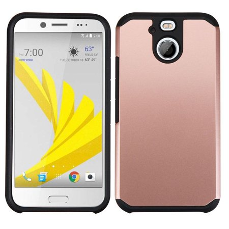 Insten Dual Layer [Shock Absorbing] Hybrid Rubber Coated Hard Plastic/Soft Silicone Case Cover For HTC 10 EVO / Bolt, Rose