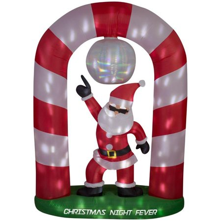 Home Accents 8 ft Christmas Holiday Santa Disco Scene AIrblown Inflatable for $<!---->