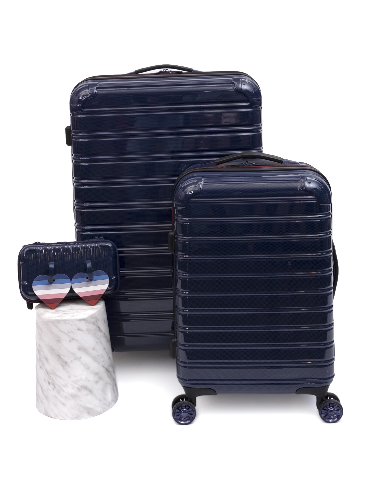 EV1 from Ellen DeGeneres 3 Piece Hardside Fibertech Luggage Set