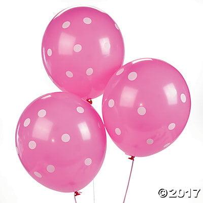 Hot Pink Polka Dot 11