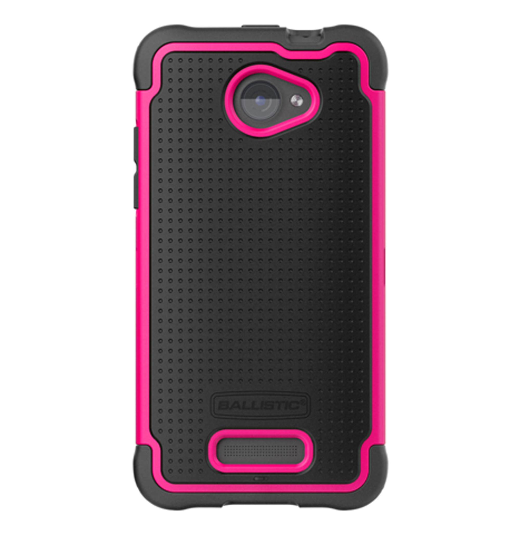 Ballistic SG1007-M365 Tough Shell Gel Case for HTC Droid DNA - Black/Hot Pink