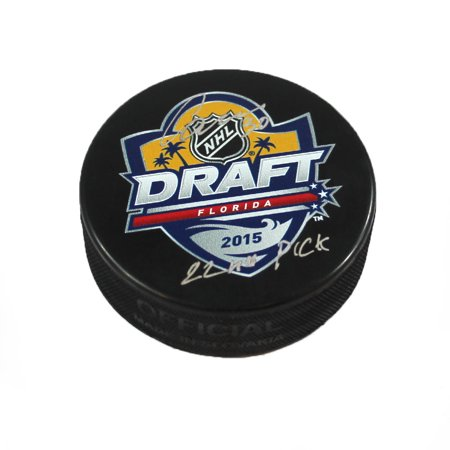 Ilya Samsonov Autographed 2015 NHL Draft Day Hockey Puck with 22nd Pick Note - image 1 de 1