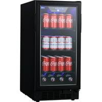 """Edgestar Bbr901bl 15"""" Wide 80 Can Built-In Beverage Center - Black"""