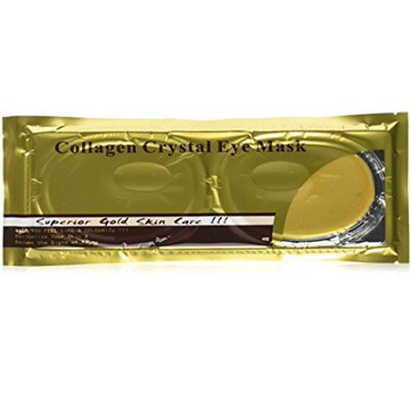 24 Karat Gold Face Facial 5 Masks with Eye Collagen, Peptides, Vitamin B5, Vitamin E, Reduce Wrinkles and Dark Circles Around the Eye