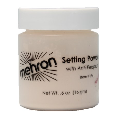 mehron UltraFine Setting Powder with Anti-Perspriant - Soft Beige (Dead White Face Powder)