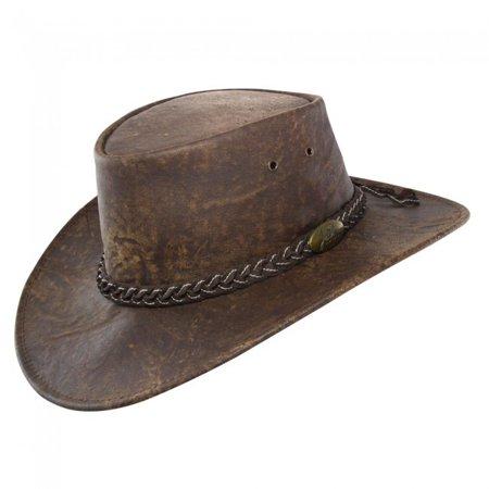 Jacaru Stonewash Brown Kanagroo Hat