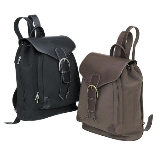 Lawyer College Drawstring Vintage Bellino Leather Backpack Bag Brown