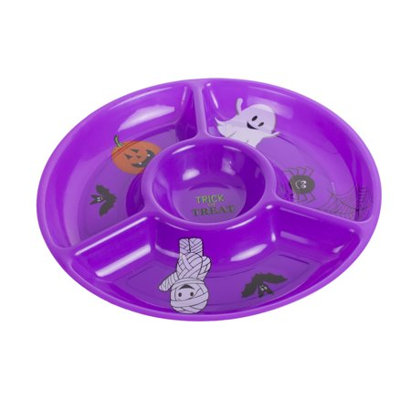 Fun World Sectioned Halloween Party Dip Platter Serving Tray, 12