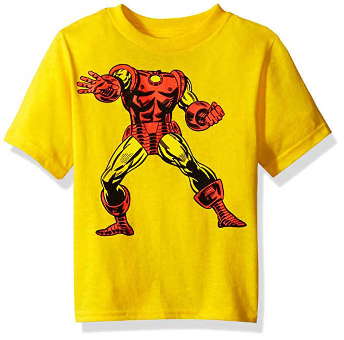 Iron Man Toddler Boy Headless Superhero Short Sleeve T-Shirt