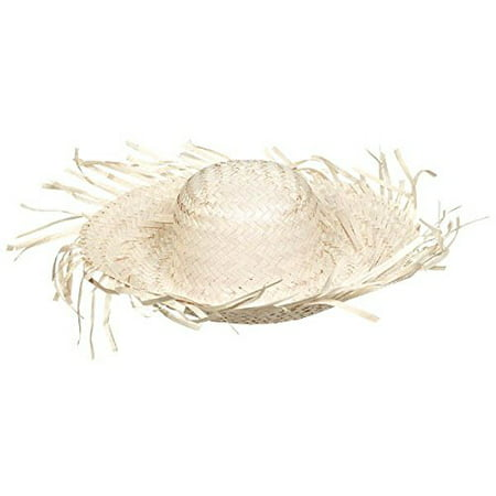 Adult Tropical Hawaiian Party Beachcomber Straw Hat Stag Fancy Dress Accessory - Beachcomber Hat