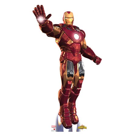 Iron Man Tony Stark Avengers Marvel Superhero Cutout Stand Large Cardboard Cutout Party Prop Decor Birthday party Supplies, Comic Superhero Birthday decoration Size is: 75