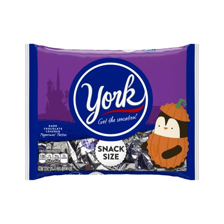 York Halloween Snack Size Peppermint Patties  11 4 Oz