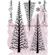 """Woodware Clear Stamps 5.5""""X3.5"""" Sheet-Winter Forest"""