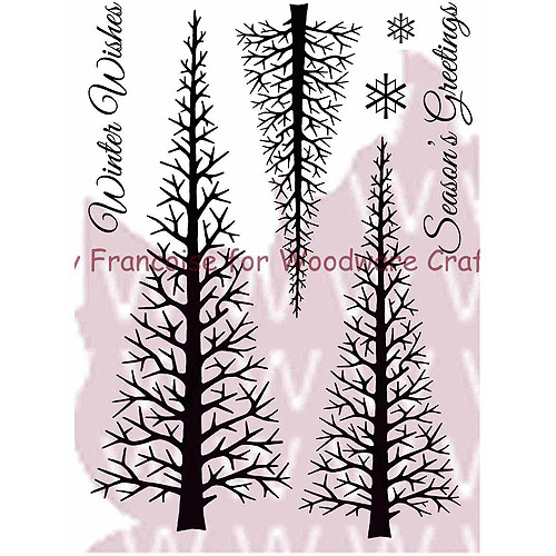 Woodware Craft Collection FRS278 Clear Stamps 5. 5''X3. 5'' Sheet-Winter Forest