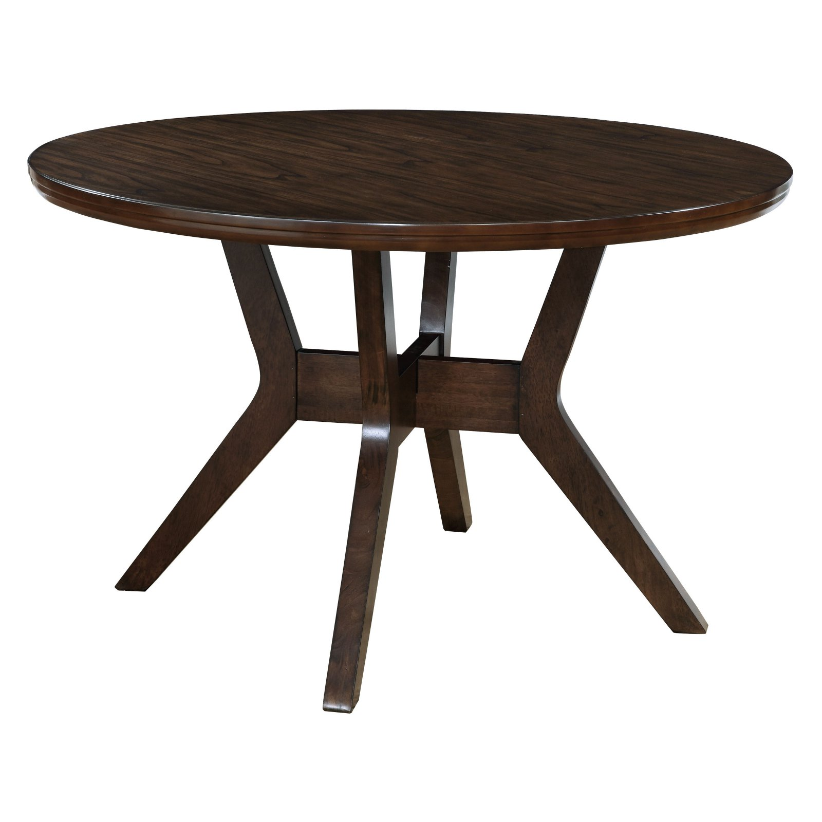Furniture of America Wellis Mid-Century Modern Round Dining Table -  Walmart.com