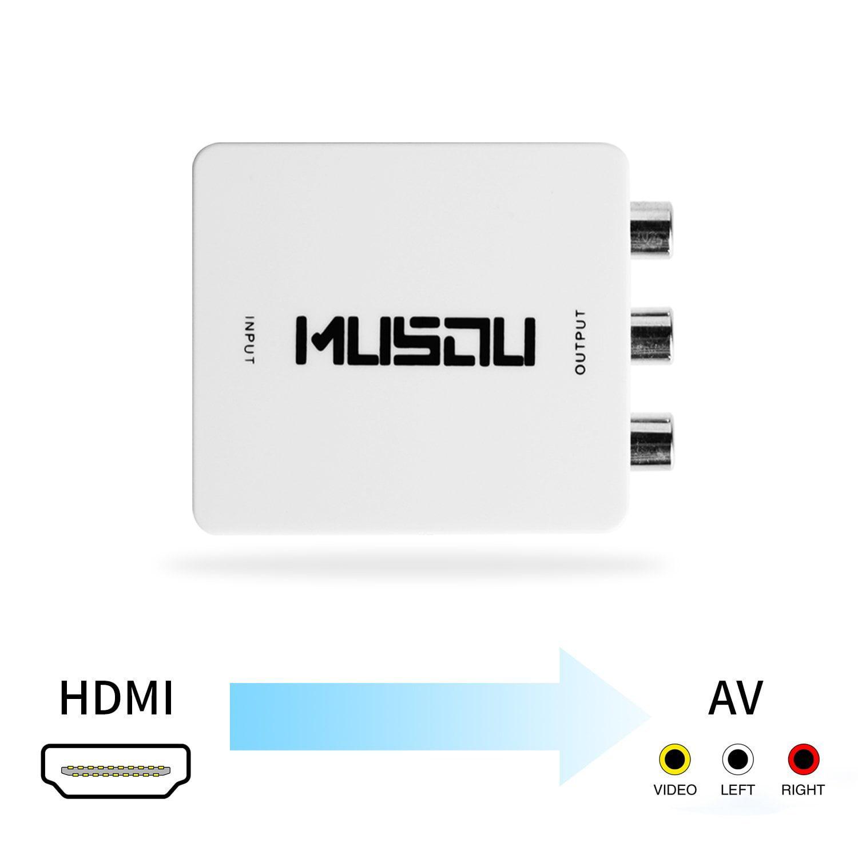 Musou HDMI to AV 3RCA CVBS Composite Video Audio Converte...