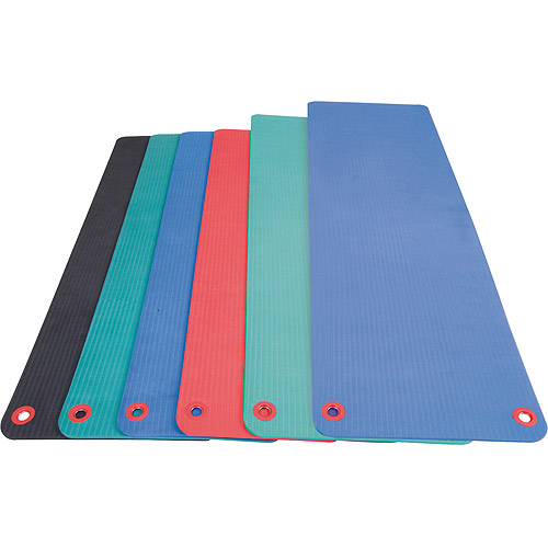 "Aeromat Elite Workout Mat with Eyelets, 24"" x 72"" x 0.5"", Phthalate-Free PVC Closed Cell Foam, Blue"