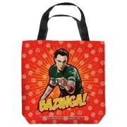 Big Bang Theory Bazinga Tote Bag White 18X18