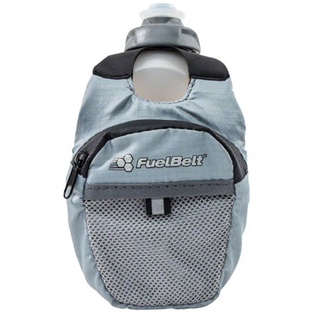 FuelBelt Helium Fuel Pack Hand-held Hydration: Black/Gray, 10oz - Helium Bottle