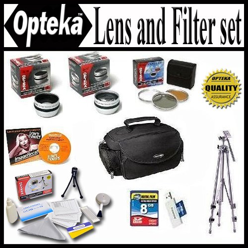 Opteka 25PC Accessory Package For Canon VIXIA HV20 HV30 H...