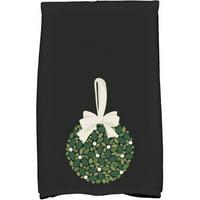 Mistletoe Me Floral Print Hand Towel