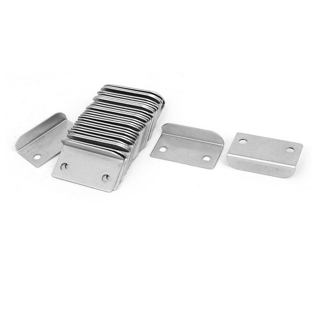 Home Office Cabinet Drawer Metal Lock Strike Plates 39mm Length 30PCS - image 3 de 3