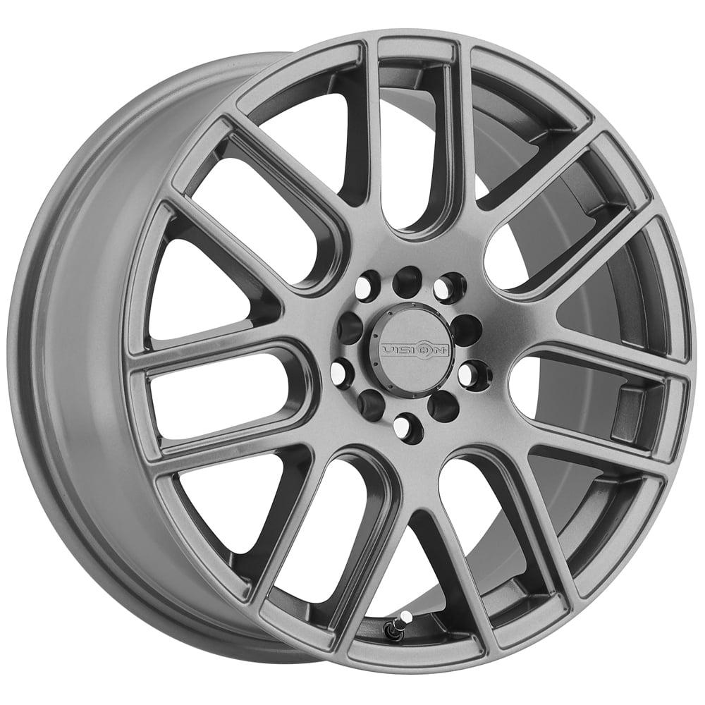 "15"" Inch Vision 426 Cross 15x6.5 4x100/4x114.3 (4x4.5"") +38mm Gunmetal Wheel Rim"