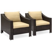 Best Choice Products 2-Piece Wicker Club Patio Chair