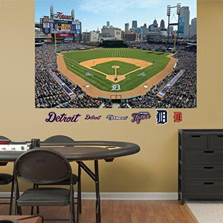 MLB Detroit Tigers 2013 Stadium Mural Decal Sticker Wall Decal 72 x 48in