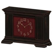 Seiko Fenwick Musical Mantel Dark Clock - Gold Hands - Red Dial - QXW419KLH