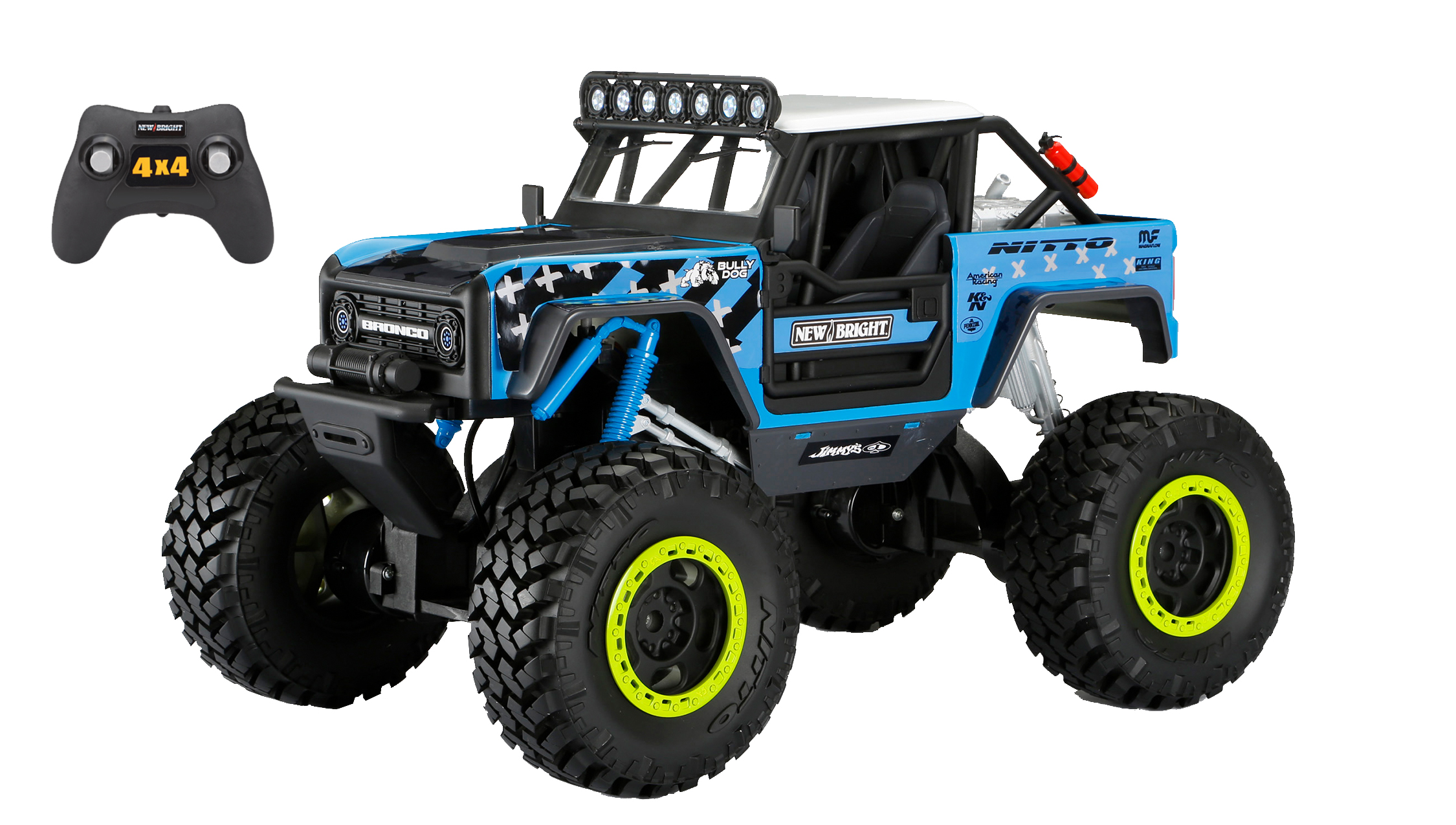 New Bright RC Vaughn Gittin Jr. Ford Bronco Rock Crawler on