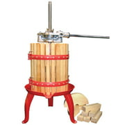 Weston Cast Iron Ratchet System and Wooden Cage Home Fruit Juice and Wine Press