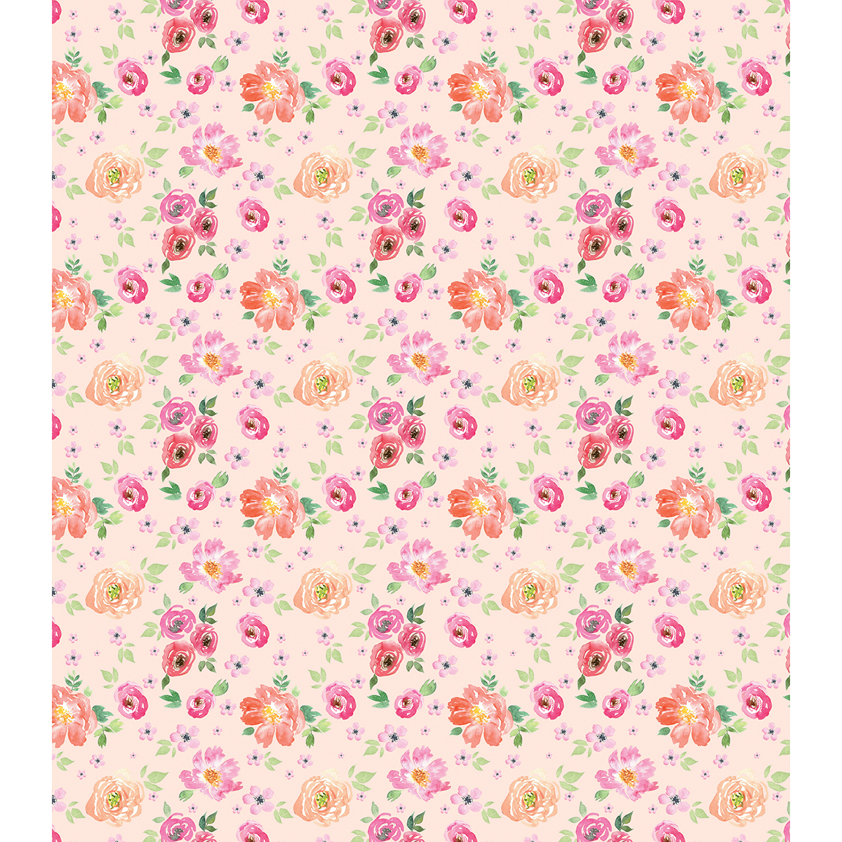 "Craft Consortium Decoupage Papers 13.75""X15.75"" 3/Pkg-Peach Bloom"