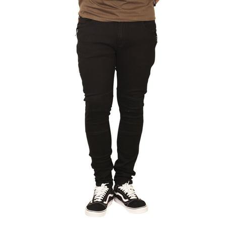 ROYAL SEVEN Super Skinny Stretch Jeans Black