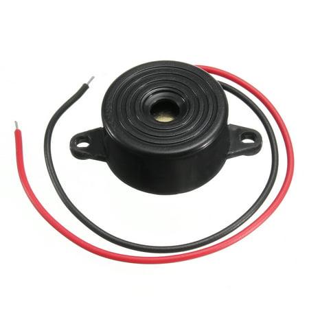 1/ 2/ 4 Pcs 3-24V buzzer 95DB Piezo Electronic Tone Buzzer Alarm with Mounting Holes (Two Tone Alarm)