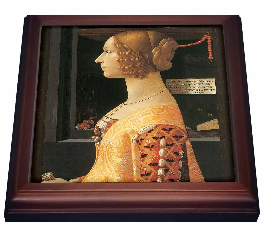 3dRose Giovanna degli Albizzi Tornabuoni by Domenico Ghirlandaio, Trivet with Ceramic Tile, 8 by 8-inch