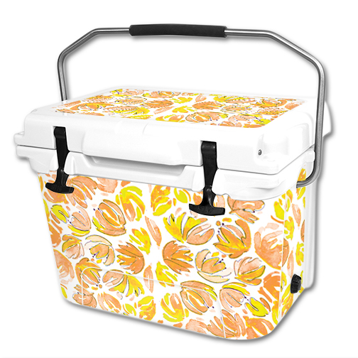 MightySkins Protective Vinyl Skin Decal Wrap for RTIC 20 qt Cooler (2016) cover sticker 3d Flowers