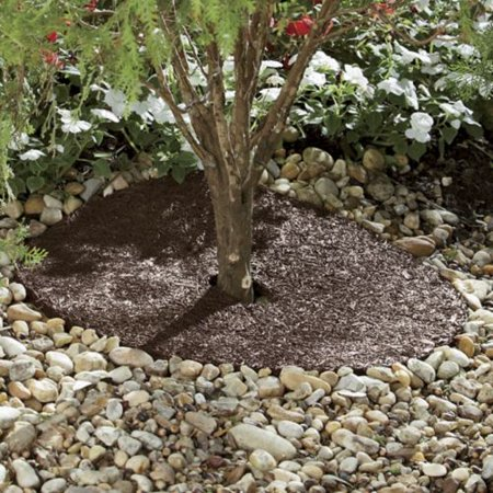 - 30 Inch Recycled Rubber Mulch Tree Ring