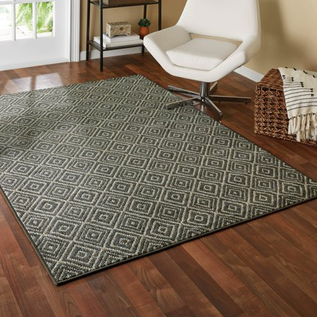 Mainstays Diamond Printed Rug ()