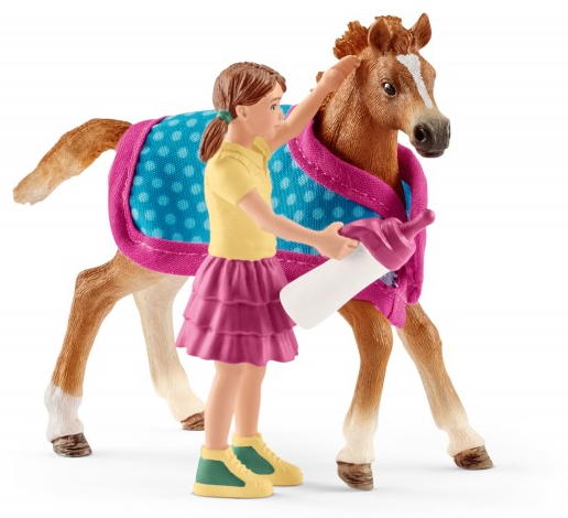 Schleich - 42361 | Horse Club: Foal with Blanket - image 1 de 1