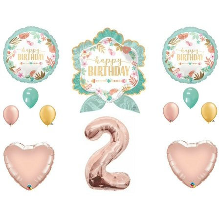 Boho Arrow 2nd Birthday Party Balloons Decoration Supplies Second Rose Gold Chic](Boho Birthday Party)
