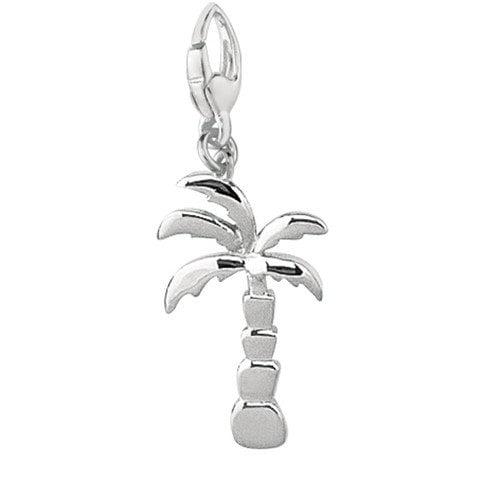 EZ Charms Sterling Silver Palm Tree Charm